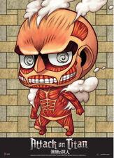 *Legit Poster* Attack on Titan Chibi Colossal Titan Authentic Wallscroll #60598