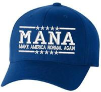 851e1a2ac22 Anti Donald Trump Democrat Blue Make American Normal Again MANA Embroidered  Hat