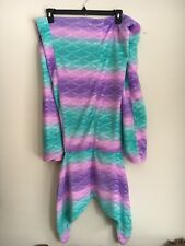 Primark Adult Teen Pink Purple Turquoise Little Mermaid Tail Blanket Throw