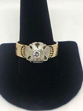 Antique Freemasonry 33 Degree 14kt Yellow Gold & 1/3ct Diamond Mason Ring
