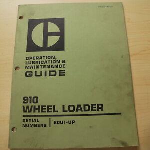 CAT Caterpillar 910 Wheel Loader Operation Maintenance Manual operator owner 80U