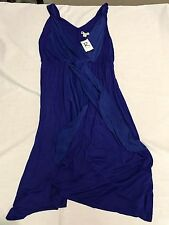 Rockmans Purple Sleeveless Cocktail Dress Large