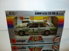 BBURAGO 0173 BMW 635 CSI GR.A #1 ENNY - WHITE 1:24 - GOOD CONDITION IN BOX
