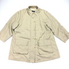 Giorgio Armani Black Label Women's Button Coat Khaki/Tan • Size 44 IT