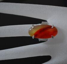 Designer XL Ring Karneol Fingerring Damenringe Unikät Edelstein Paris versilbert