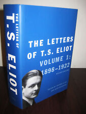 1st Edition THE LETTERS T.S. Eliot V1 Revised First Printing YALE Correspondence
