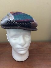 Vintage Donegal Tweed Hats Of Ireland Castlebar Wool Newsboy Hat Cap Golf  Large 0f08bc1fa08b