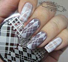 Nail Art Stamping Stamp Plate Diamond Shape Image Template #10 BORN PRETTY