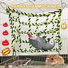 Pet Bird Parrot Hamster Cage Rope Ladder Net Hammock Swing Hanging Perch Toys JL