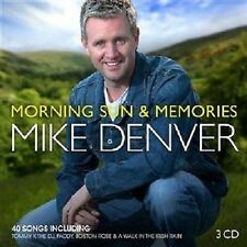 MIKE DENVER MORNING SUN & MEMORIES 3 CD SET 2014 IRISH COUNTRY
