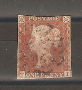 QV 1841 SG8/12 Red-brown with Red and Black MX with Cert