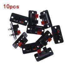10PCS Spring Clip Speaker Plate Terminal Strip Binding Post Connector Socket