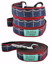 Hubba Puppy Nautical Ropes & Anchors Large Leash Navy 6 ft Length Nylon Durable