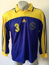 Maglia calcio wolfsburg adidas matchworn maletzki 3# trikot fussball vintage