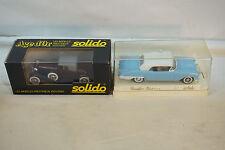 VINTAGE DIECAST CARS SOLIDO 4501 CADILLAC ELDORADO CORD L 29 LOT 2 WITH BOXES