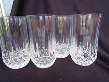 4 Cris d'Arques  Longchamp 12 ounce Tumblers / Drinking  glasses