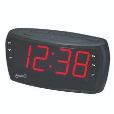 "Supersonic Sc-379 Digital Am/Fm Alarm Clock Radio with 1.8"" Jumbo Display"