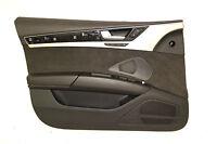 Audi A8 4H Türverkleidung Vorne Links beleuchtet Alcantara Schwarz Original