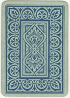 Playing Cards 1 Swap Card Old Antique English Wide SIMPLE GEOMETRIC ART FLOWERS