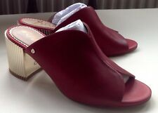 UK size 4 Sam Edelman BNWT in box red leather shoes gold heels