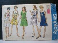 Simplicity Pattern 8583 Misses Size 12 Front Zipper Dress Sailor Round Collars