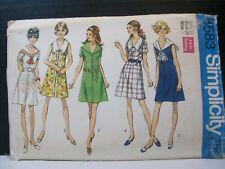 Simplicity Pattern 8583 Misses Size 12 Front Zipper Dress Sailor Round Collars