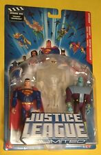 Justice League Unlimited SUPERMAN Brainiac CLEAR MARTIAN MANHUNTER figure 3 Pack
