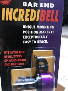 Nos Vintage Mirrycle Bar End Incredibell Bicycle Bell Purple