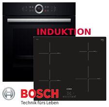 Bosch Herdset Induktion Elektro Autark Backofen Schwarz + Induktion Kochfeld Neu