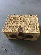 Wicker basket picnic basket & contents