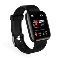 IP67 Montre Smart Watch Intelligente Barcelet  Connectée Bluetooth 4.0 Noir BT