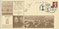7/8/1993-GB FDC-1902-First Ever Test Match at Edgbaston-Signed by Amiss &1 other