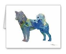 Blue Akita Note Cards With Envelopes