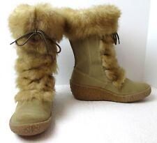 Women's Brilliant W8060 Wheat Suede & Fur Waterproof  Winter Boots Sz 8.5 M