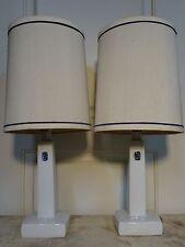 MODERNIST FOG MORUP ROYAL COPEHAGEN DANISH MODERN CERAMIC WHITE BLUE LAMPS FLORA