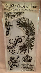 Tim Holtz Visual Artistry Stampers Anonymous Wings Lion Borders Regal Flourish