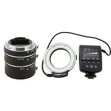 Meike MK-C-AF-A Auto Focus Macro Extension Tube  FC-100 Flash Light for canon