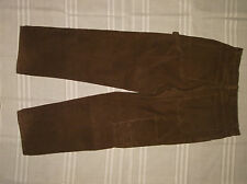 FADED GLORY JEANS 34X34 BROWN CARPENTER CORDUROYS 100% COTTON 11 WALE MENS