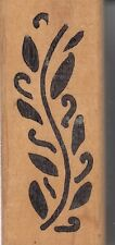 """lily leaf hot potatoes Wood Mounted Rubber Stamp 1  1/4x 3""""  Free Shipping"""