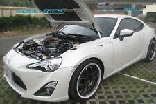 Silver Carbon Strut Hood Shock Damper Lifter for 12-16 Scion FRS FR-S Subaru BRZ