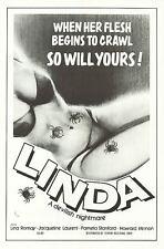 LINDA aka LORNA THE EXORCIST original 1976 movie poster JESS FRANCO/LINA ROMAY