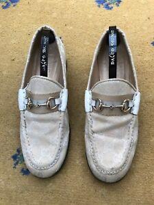 Gucci Womens Shoes Beige Canvas Horsebit Loafers UK 4 US 7 EU 37 Ladies Web