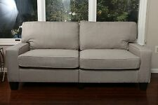 """GREY Fabric Sofa Couch Love Seat College Dorm Apartment Living Room Modern 61"""""""