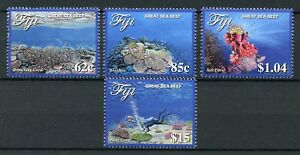 Fiji 2017 MNH Great Sea Reef 4v Set Fishes Coral Corals Marine Stamps