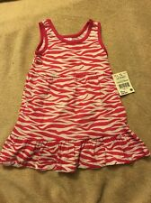 Infant Girls PInk & White Zebra Print Sundress Size 12 Months New with tag