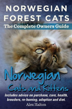 Halton alex-norwegian forest cats & kitten book new