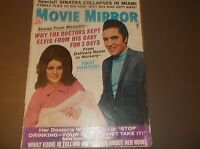 Vintage Celebrity Magazine MOVIE MIRROR May 1968/Why Doctors Kept Elvis fromBaby