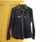 Mens, dark blue, Rough Justice shirt size L
