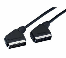 Pack of 4 x 1.5m  Heavy Duty Nickle Plated Scart Cable/Lead