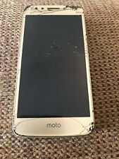 Motorola Moto e4 Xt1765 16Gb Gold (MetroPcs) Gsm Cracked Screen - Clean Esn